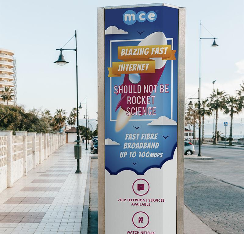 MCE Road Sign
