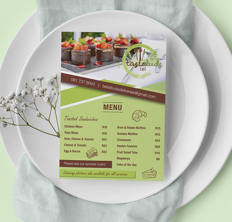 Tastebuds Cafe Pricelists